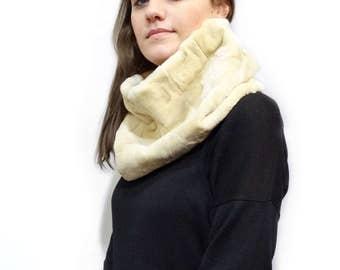 Sheared fur collar neck warmer F317