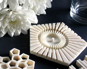 pentagon 3d printed geometrical coasters modern drinkware cool beer coasters plus a - Cool Coasters