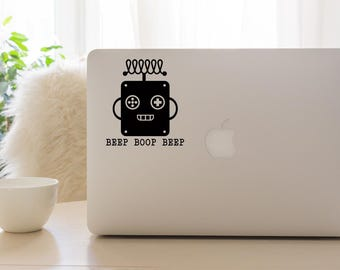 Robot Vinyl Window Decal - Car Decal - Robot Car Decal - Robot - Robot Sticker - Robot Vinyl - Robot Decal - Beep Boop Beep