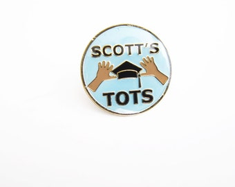 The Office Pin / Michael Scott Pin / Scott's Tots / The Office Enamel Lapel Pin / Valentines Day Gift / Friend Gift