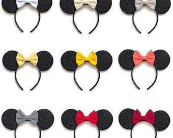 Minnie Mouse Inspired Ears Minnie Mouse Fabric Bow Ears