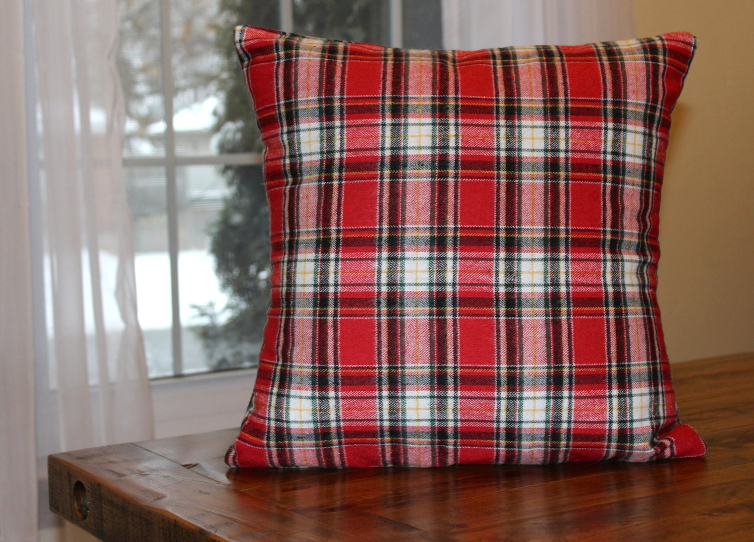 Cover Throw Pillow Plaid Pillow Cover Cottage Decor