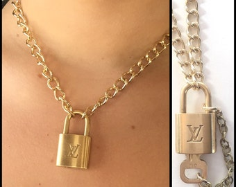 Louis Vuitton Necklace Authentic Lock with Removable Key