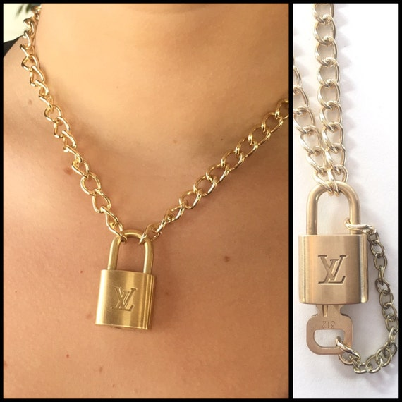 Louis Vuitton Necklace Authentic Upcycled Lock With Removable