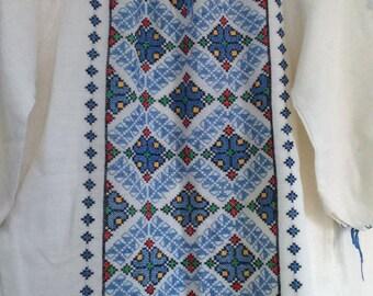 Vintage Eastern Europe Folk Original Handmade Vyshyvanka Peasant Top