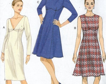Vogue 9125 Free Us Ship Empire Dress Sewing Pattern Size 6/14 14/22 Bust 30 32 3436 38 40 42 44 plus size  Uncut  2015 Out of Print