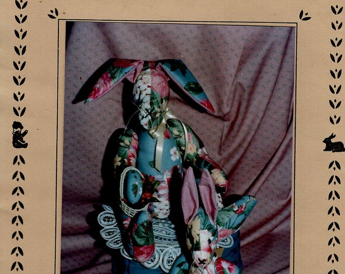 Donn'as Country Collection Quilted Doll Bunny Rabbit Floppy Ears Craft Sewing Pattern Free Us Ship Easter Uncut 1990's