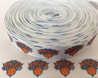 Knicks grosgrain  ribbons, Basketball ribbons, sport ribbons, team ribbons, 1 inch Grosgrain ribbons