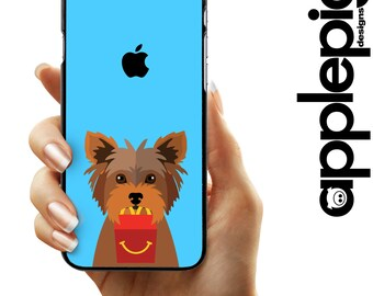 Yorkshire Terrier Phone Case - Happy Meal   iPhone 5/5S/SE - iPhone 5C - iPhone 6/6S/6plus- iPhone 7/7plus - Galaxy S5/S6 - Dog Phone Case