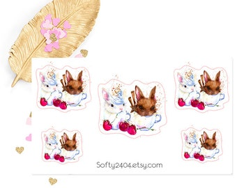 Bunny sticker, life planner sticker for kikki k, filofax or erin condren, animal sticker