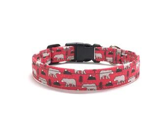 Bear Dog Collar, Mountain Dog collar, cute dog collar