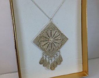 Filigree pendant Art Nouveau 835 silver antique SK475