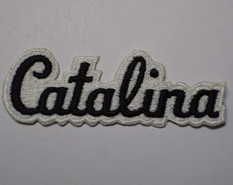 Vintage Catalina Island Script Patch - Southern California