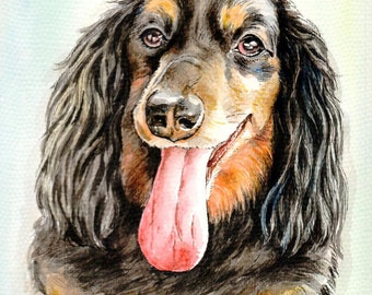 8x10 inch dog portrait, custom animal painting, valentine's day gift, birthday gift, anniversary