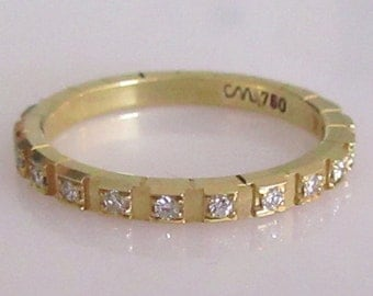 18ct Yellow Gold Multi Diamond 0.23ct Eternity Ring