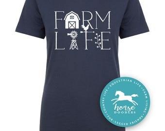 Farm Life    Farm Shirt   Equestrian   Country Life   Farm Girl   Barn   Farm Life   Women's Fitted Tee   Fashion Fit   Soft