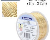 GOLD German Wire (20 Gauge - 312ft)  1lb Spool Beadalon ROUND German Craft Wire