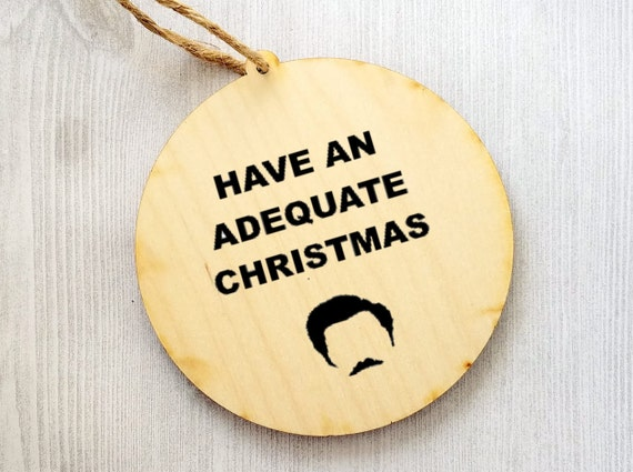 Ron Swanson Christmas Ornament Parks and Recreation Christmas