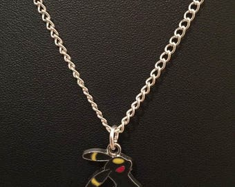 Silver Plated Nintendo Pokemon Umbreon Necklace