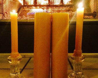 "100% Pure beeswax candle-extra tall pillar candles-beeswax candles-pure beeswax candle-pillar candle-organic beeswax candle-6"" to 9"" tall"