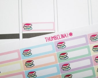 Book Tracker Planner Stickers for Erin Condren, Happy Planner and more (TP194)