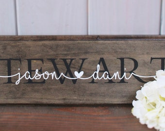 Rustic sign - last name sign - personalized sign - wooden sign - family name sign - anniversary gift - wedding gift - rustic wedding decor