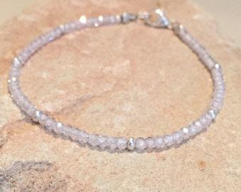 White bracelet, cubic zirconia bracelet, gemstone bracelet, elegant bracelet, Hill Tribe silver bracelet, sundance style bracelet