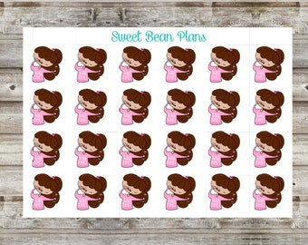 Wine Time/Drinking Hand Drawn Doodle Girls Planner Stickers