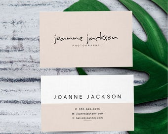 Business Card Design Photography Business Card Peachy Color Business Card Minimalist