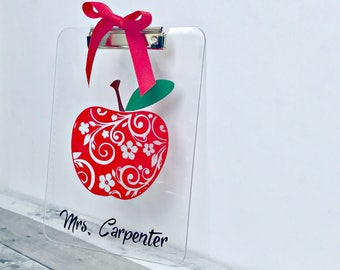 Teacher Appreciation Gift / Teacher Clipboard / Teacher Gifts / Personalized Clipboard / School Supplies / Back to School / Teacher Supplies