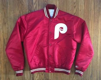 Vintage 80s Philadelphia Phillies Starter MLB Satin Jacket - Large