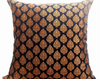 Black Gold Pillow Covers,Black Pillow Covers 20x20 Pillow Cover Black-Gold Cushion Covers Black Throw Pillows,Gold Throw Pillow Ready