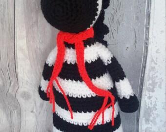Zebra soft toy - ce tested toy, amigurumi zebra, zebra toy, jungle toy, jungle nursery, ehlers danlos