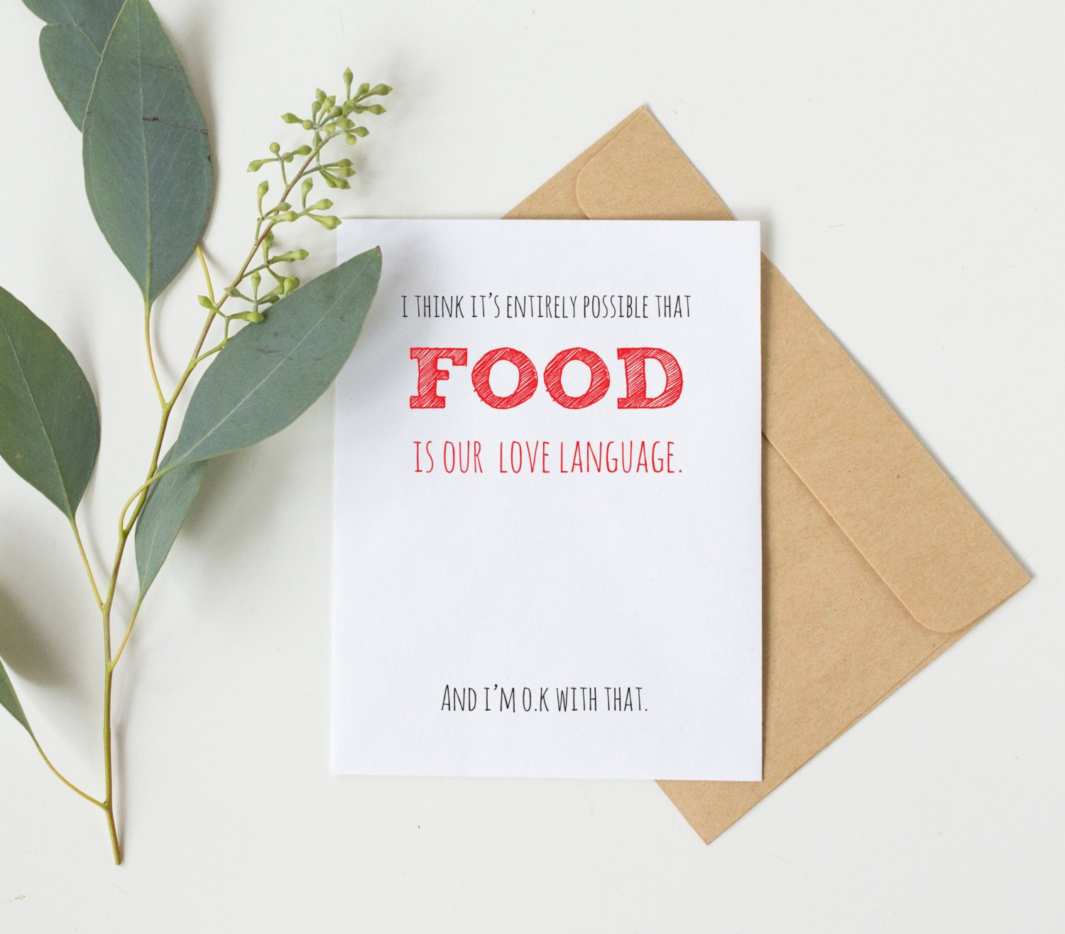 food is our love language funny boyfriend birthday card