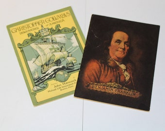 Benjamin Franklin (1933) and Christopher Columbus (1926) booklets (P70)