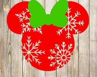 Minnie Snowflake, Minnie Christmas SVG design digital file, INSTANT DOWNLOAD