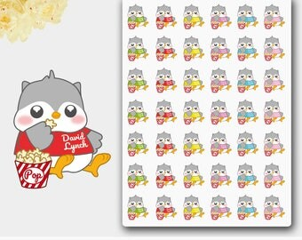 42 Owl Planner stickers,Kawaii Stickers, Baby Owl Sticker,Erin Сondren Life planner,Decoration owl sticker set,Plum Paper planner,TV Sticker