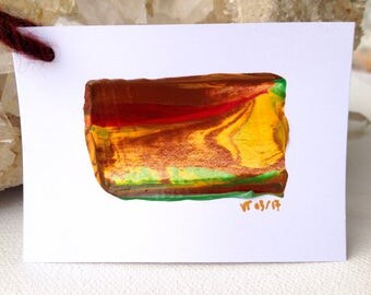 ENERGY PAINTING Month MARCH 2017, Nr. 10 - Unique Gifts for Women - Unique Birthday Gifts for her - Fall Decor - Abstract Original Painting