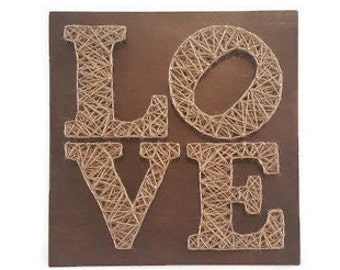Valentine Gift - Valentines Day Gift For Her - Valentines Gift For Him - Love Gift - Love String Art - Love Sign - Valentine's Gift Day Idea