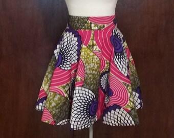 African style Ankara full mini circle skirt