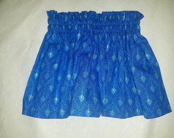Royal blue High waist style baby and toddler skirt