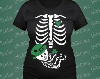 Irish Skeleton Maternity for St. Patrick's Day