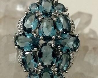 Blue Topaz Ring Size 8