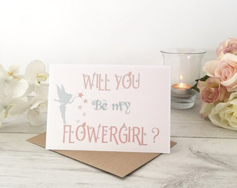 Will you be my Flower Girl Proposal Card, Personalised Flower Girl Invite, Will You Be My Flower Girl, Cute Flower Girl Card, Flower Girl