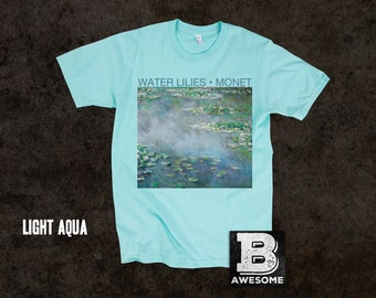 Claude Monet Water Lilies 1906 T-Shirt, Vintage Painting Shirt