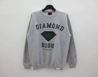 "Diamond Supply Sweatshirt Diamond Supply ""High Class of 1998"" Pullover Mens Size M"