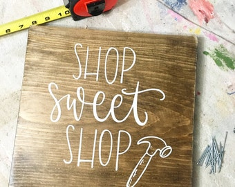 Shop Sweet Shop - Wood Sign
