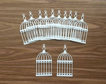 24 Birdcage Die Cuts, Embellishments, Punchies, Punches, Decor, Scrapbooking, Cardmaking
