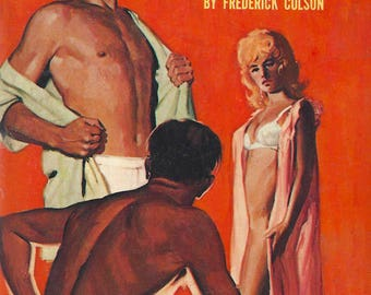 Gay pulp art print The Devil is Gay—  vintage pulp paperback cover repro