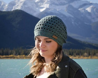 aquamarine | 100% cotton slouch hat